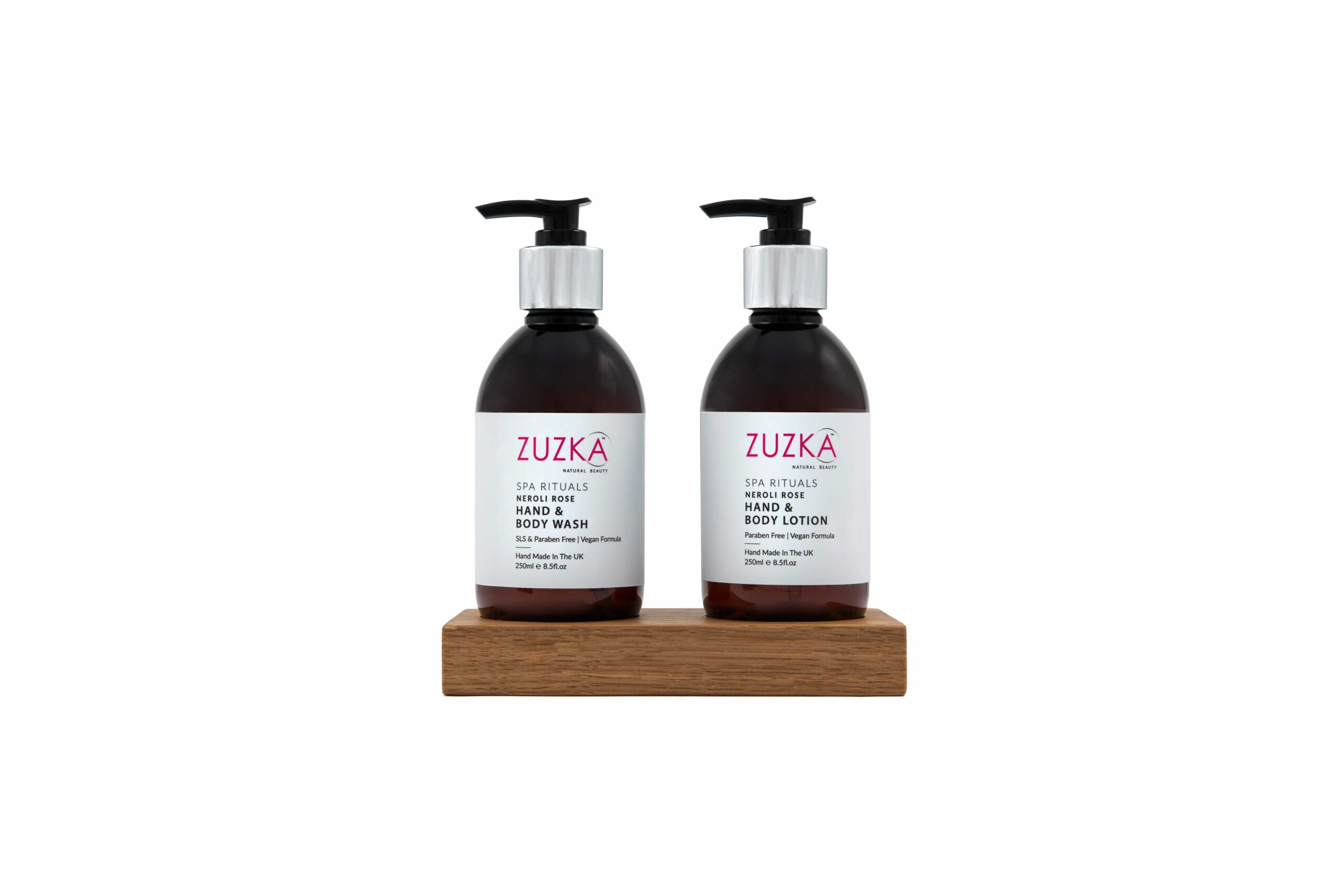 Zuzka Spa Rituals Hand Crafted Hand-Body-Wash and Lotion-Stand