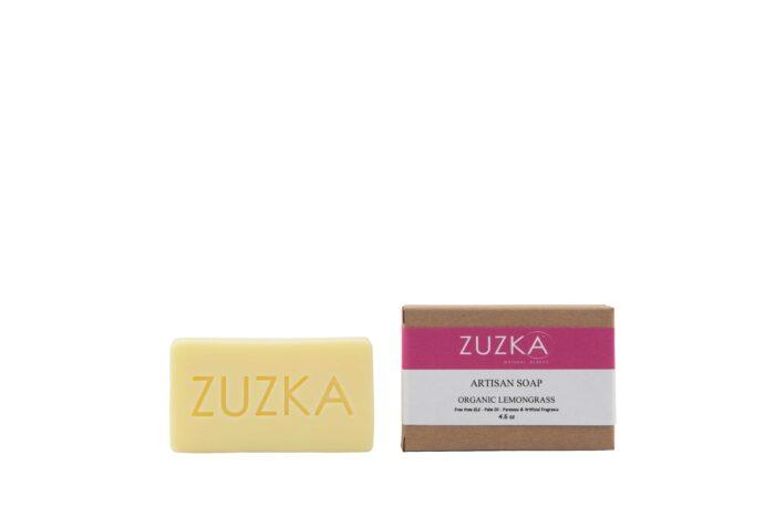 Zuzka-Artisan-Soap-Organic-Lemongrass with Box