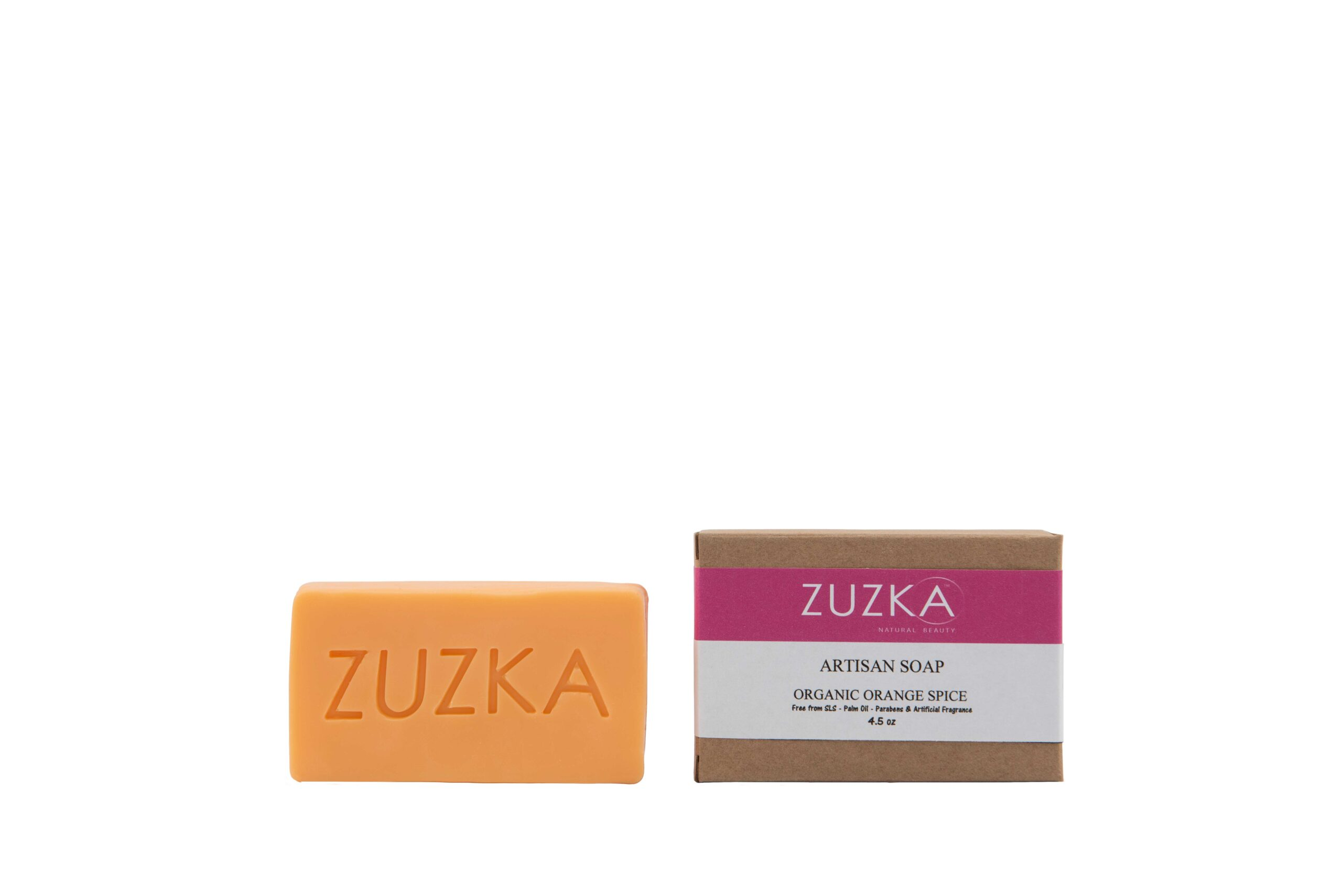 Zuzka-Artisan-Soap-Organic-Orange-Spice with Box