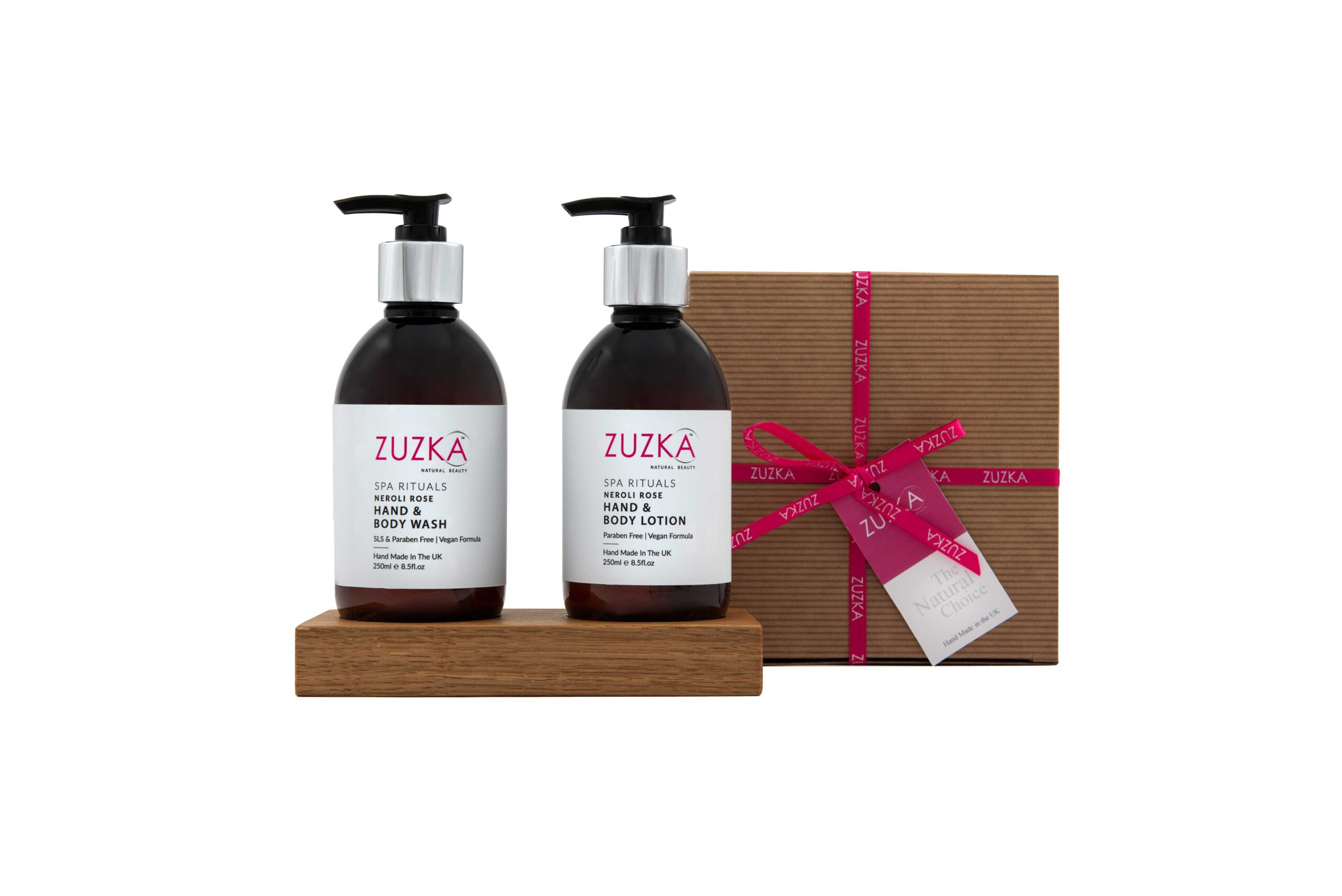 Zuzka Spa Rituals 250ml Hand & Body Wash & Lotion Duo with Stand